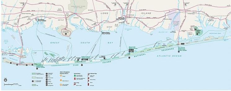 Fire Island Map