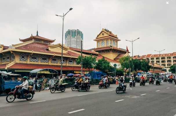 Saigon Vietnam motorcycles galore